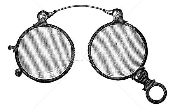 鼻 眼鏡 ヴィンテージ 彫刻 刻ま 実例 ストックフォト © Morphart
