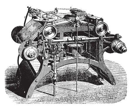 Revolver vintage gegraveerd illustratie woordenboek Stockfoto © Morphart