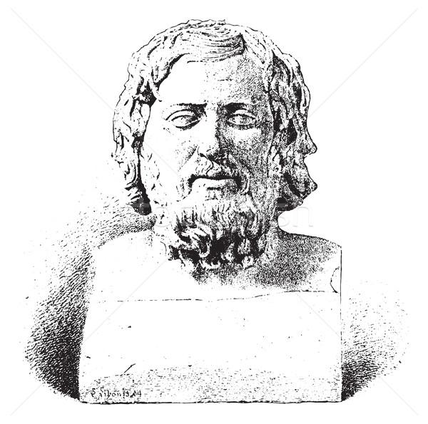 Xenophon or Xenophon of Athens, vintage engraving. Stock photo © Morphart