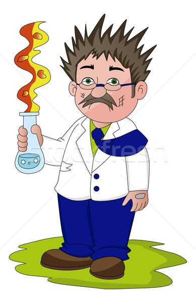 Stok fotoğraf: Vektör · bilim · adamı · başarısız · oldu · deney · adam · doktor