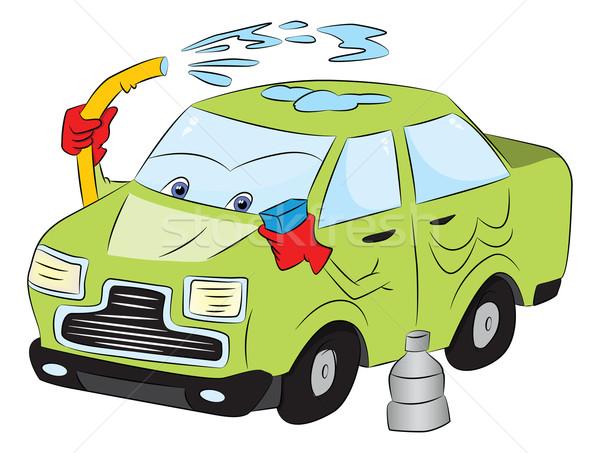 Vector car wash water ogen dienst schoonmaken Stockfoto © Morphart