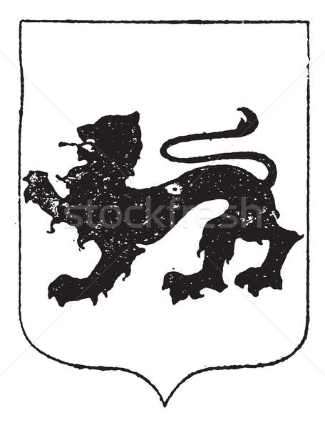 徒歩 ライオン コート 腕 ヴィンテージ 彫刻 ストックフォト © Morphart