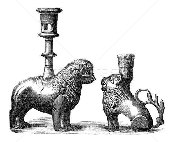 青銅 ヴィンテージ 彫刻 動物 デザイン 刻ま ストックフォト © Morphart