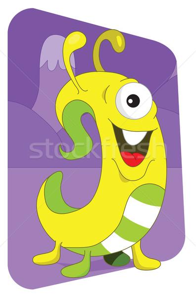 Amarillo exóticas monstruo púrpura montana sonrisa Foto stock © Morphart
