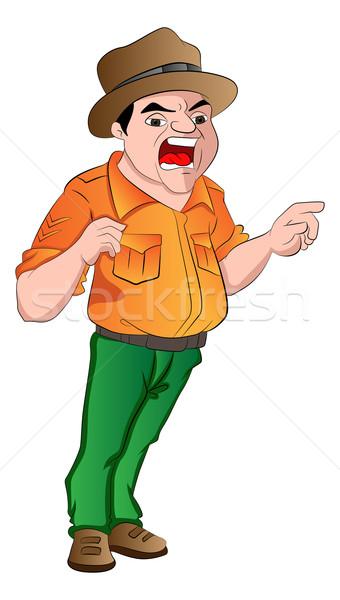 сердиться сержант иллюстрация мужчин подготовки Сток-фото © Morphart