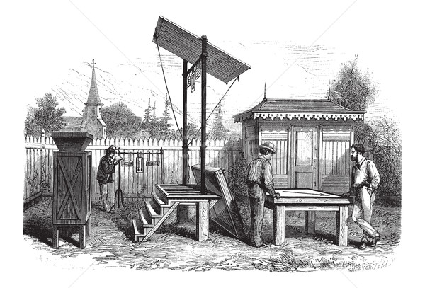 Meteorological Observatory, vintage engraving Stock photo © Morphart