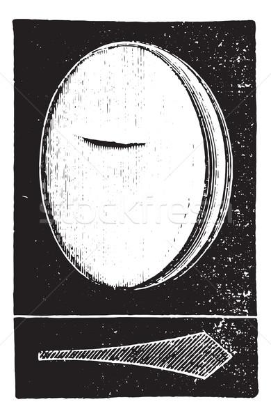 Prismatic glass, vintage engraving. Stock photo © Morphart