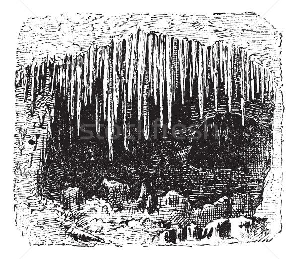 пещере Vintage иллюстрация словарь Сток-фото © Morphart
