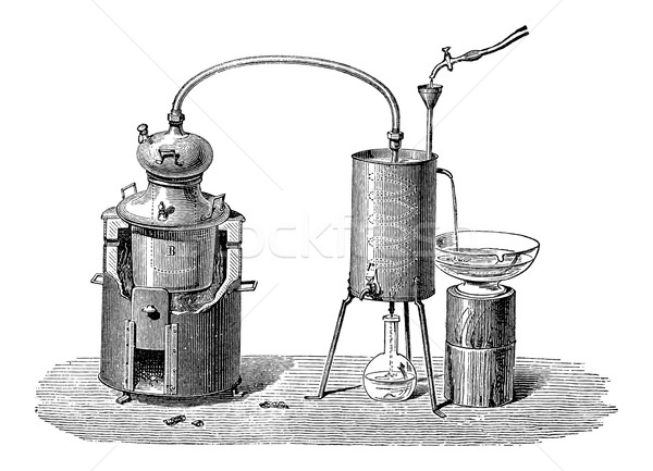 Still or Distillation Apparatus, vintage engraving Stock photo © Morphart