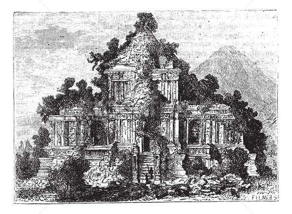 Groot tempel Indonesië vintage oude Stockfoto © Morphart