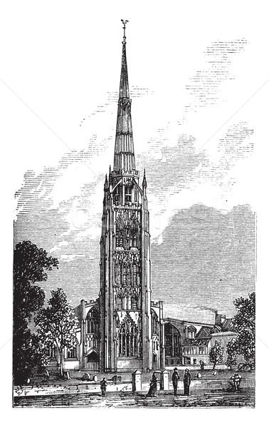 собора святой Англии блок Великобритания Vintage Сток-фото © Morphart