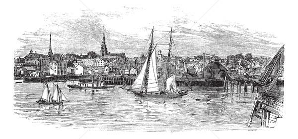 Newburyport in Massachusetts, USA, vintage engraved illustration Stock photo © Morphart