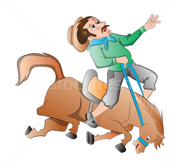 ロデオ 実例 スポーツ 馬 カウボーイ 帽子 ストックフォト © Morphart