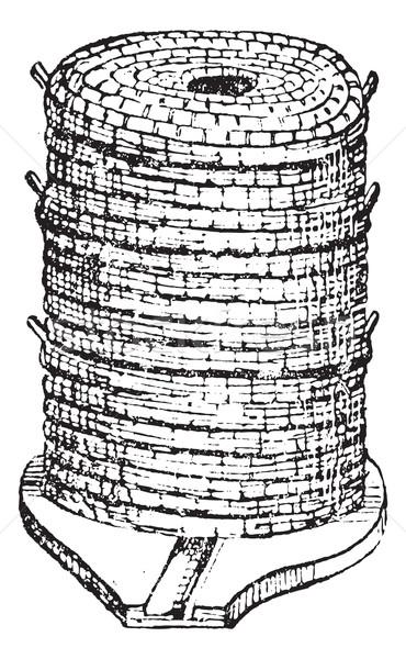 Kovan bağbozumu oyma oyulmuş örnek sözlük Stok fotoğraf © Morphart