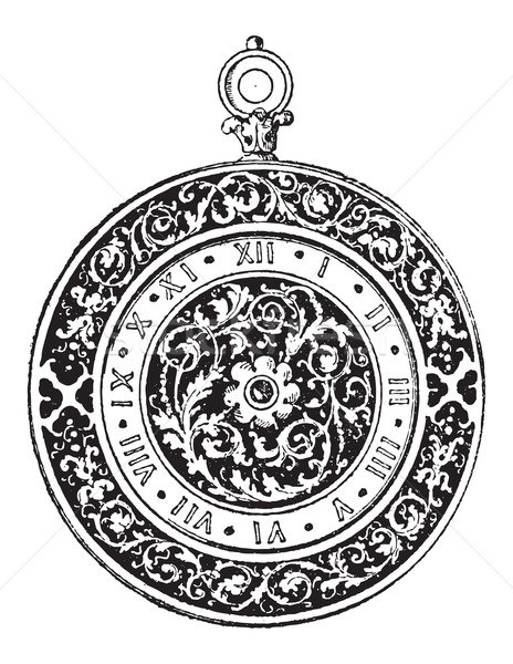 Watch Dial, vintage engraving Stock photo © Morphart