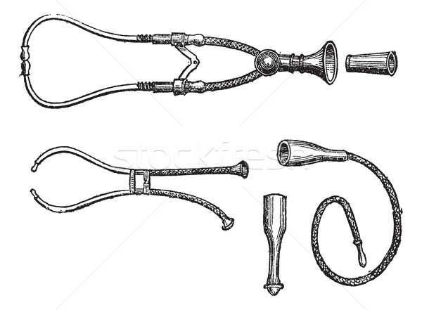 Stethoscopes vintage engraving Stock photo © Morphart
