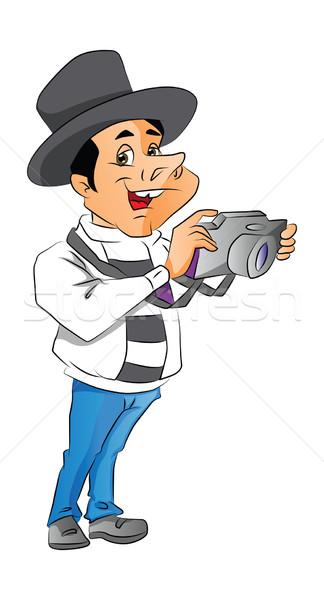 Vector of man with digital camera. Stock photo © Morphart