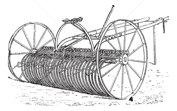 Gereblye klasszikus vésés gravírozott illusztráció szótár Stock fotó © Morphart