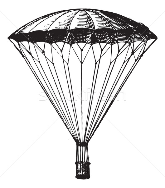 Parachute, vintage engraving. Stock photo © Morphart