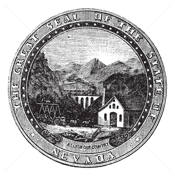 Seal of the State of Nevada, vintage engraved illustration Stock photo © Morphart