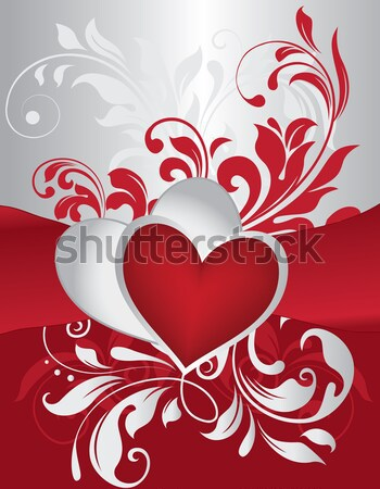 Vintage Valentine card with ornate elegant retro abstract floral Stock photo © Morphart