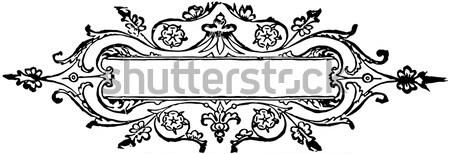 Klasszikus elemek díszes elegáns absztrakt virágmintás Stock fotó © Morphart