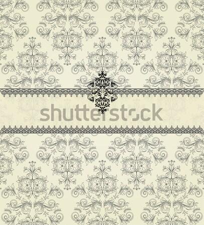 Jahrgang Einladungskarte eleganten abstrakten floral Stock foto © Morphart