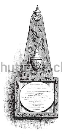 German Apparatus for the Distillation of Urine, vintage engravin Stock photo © Morphart