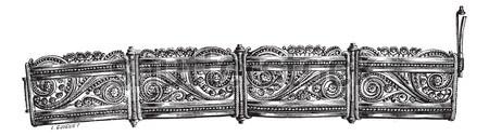 Filigree bracelet vintage engraving Stock photo © Morphart