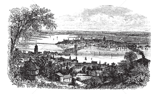 Mantua in Lombardy Italy vintage engraving Stock photo © Morphart