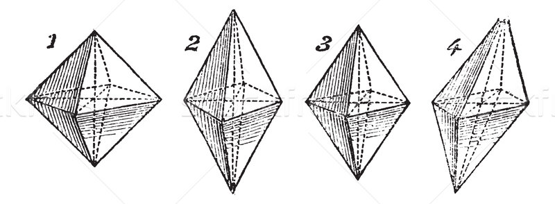 Octahedron, vintage engraved illustration Stock photo © Morphart