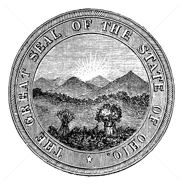 Seal of the State of Ohio. vintage engraving Stock photo © Morphart