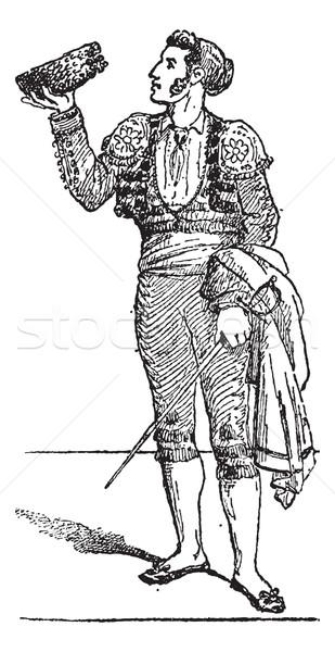 A Toreador or Torero, vintage engraving. Stock photo © Morphart