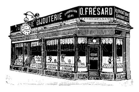 Machine vintage oude gegraveerd illustratie Stockfoto © Morphart