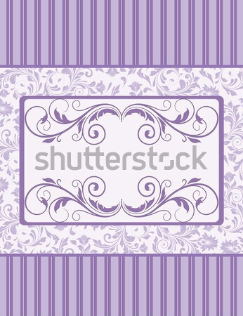 Vintage tarjeta flor ornamento cumpleanos marco Foto stock © Morphart