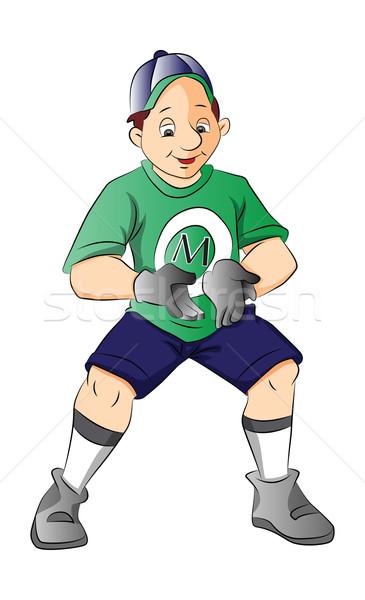 Jogador de beisebol ilustração homem beisebol branco pessoa Foto stock © Morphart