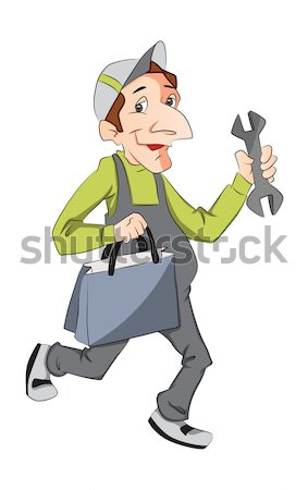 Vektor Briefträger Briefträger halten Schreiben Hinweis Stock foto © Morphart