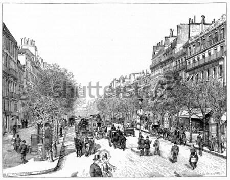 The Avenue des Champs-Elysees in Paris France vintage engraving Stock photo © Morphart