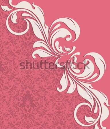 Klasszikus meghívó díszes elegáns absztrakt virágmintás Stock fotó © Morphart