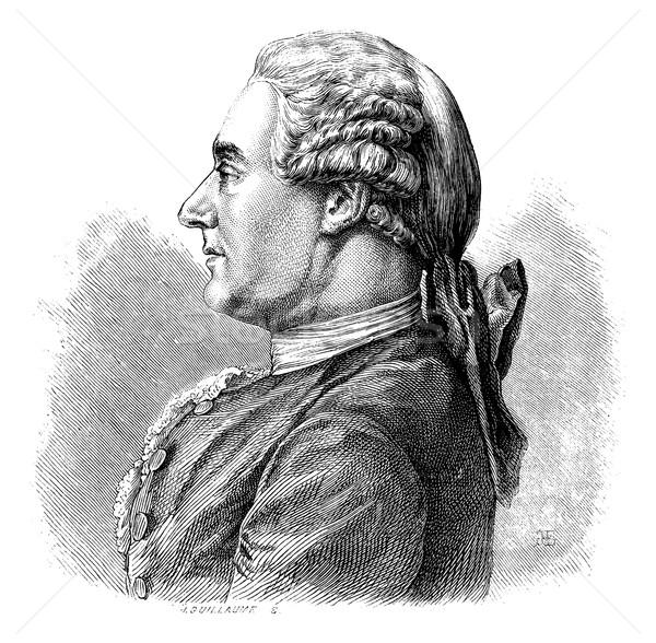 Charles Duclos, historian, vintage engraving. Stock photo © Morphart
