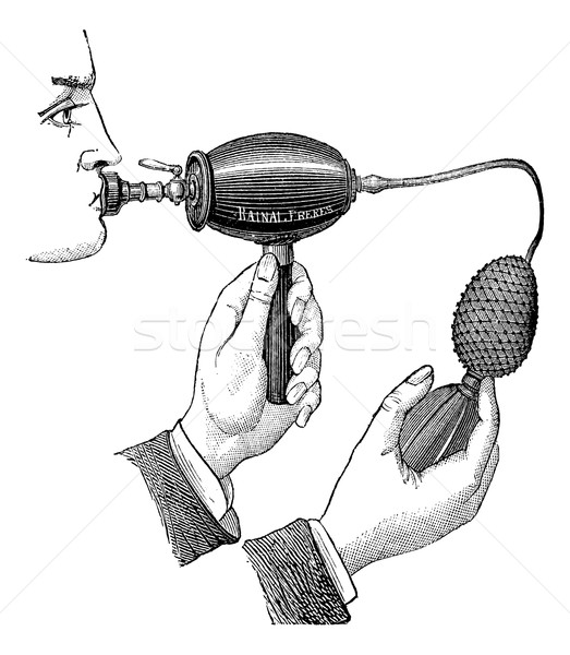 Powered inhaler, vintage engraving. Stock photo © Morphart