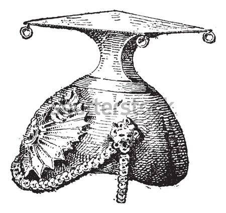 Weaver bird, vintage engraving. Stock photo © Morphart