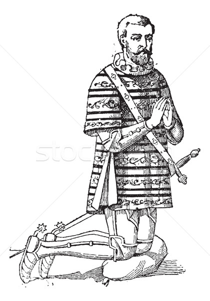 A Gambeson or aketon or padded jack or arming doublet, vintage e Stock photo © Morphart