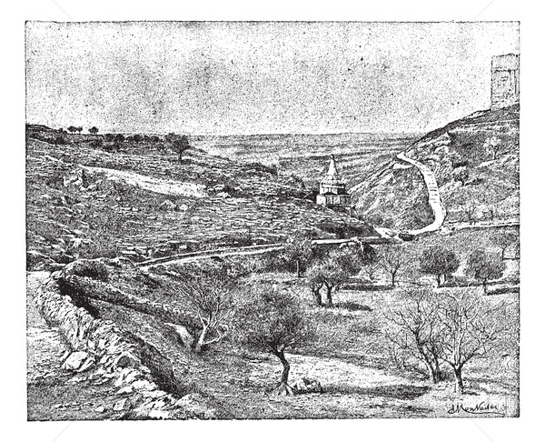 Valley of Jehoshaphat or Valley of Josaphat, vintage engraving. Stock photo © Morphart
