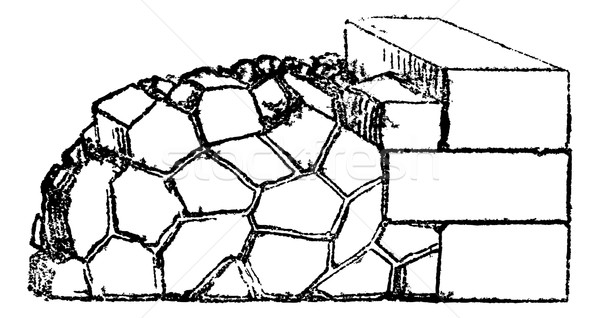Crazy paving of the Romans contains joints in all directions, vi Stock photo © Morphart