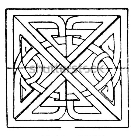 A square celtic knots design Stock photo © Morphart