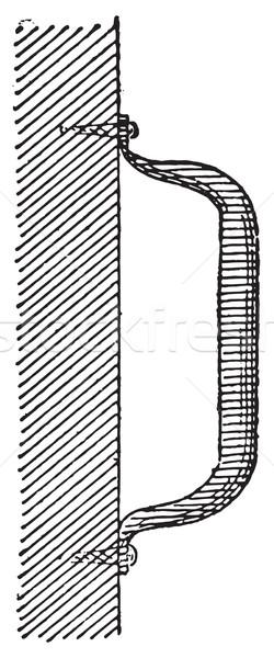 Foto stock: Manusear · vintage · gravado · ilustração · dicionário