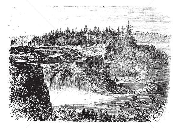 Rivier Quebec Canada vintage oude Stockfoto © Morphart