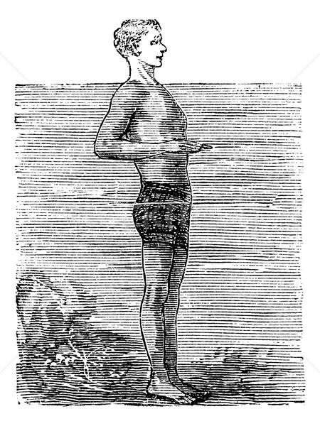 Primo posizione vintage inciso illustrazione enciclopedia Foto d'archivio © Morphart