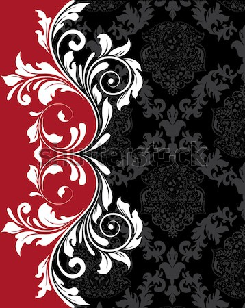 Vintage background with ornate elegant abstract floral design Stock photo © Morphart